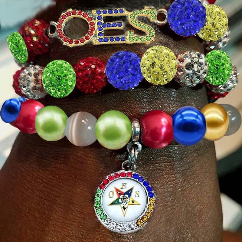 Order of the Eastern Star Multilayer Beads Bracelet