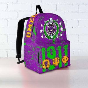 Omega Psi Phi Founding Year Backpack - Unique Greek Store