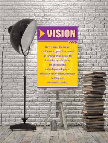Omega Psi Phi Vision Wall Art - Unique Greek Store