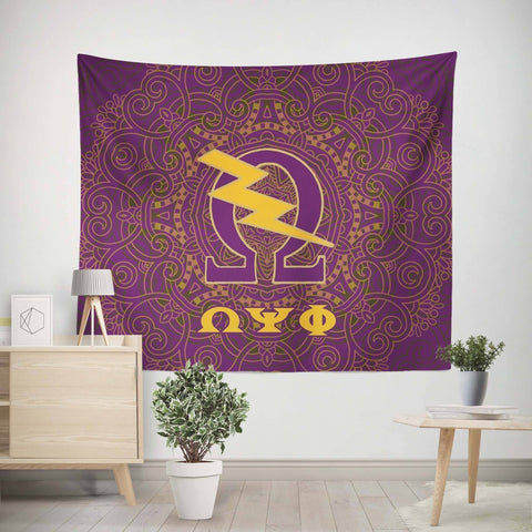 Image of Omega Psi Phi Tapestry - Unique Greek Store