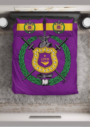 Omega Psi Phi Bedding Set - Unique Greek Store