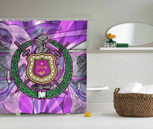 Omega Psi Phi Shower Curtain - Unique Greek Store