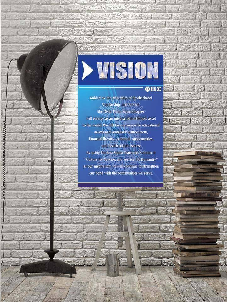 Phi Beta Sigma Vision Wall Art - Unique Greek Store
