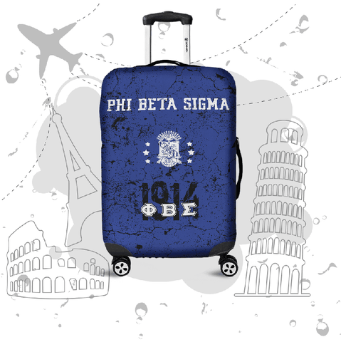 Image of Phi Beta Sigma Luggage Bag Cover - Unique Greek Store