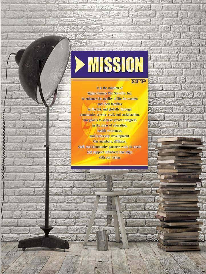 Sigma Gamma Rho Mission Wall Art - Unique Greek Store