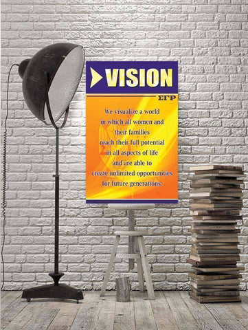 Image of Sigma Gamma Rho Vision Wall Art - Unique Greek Store