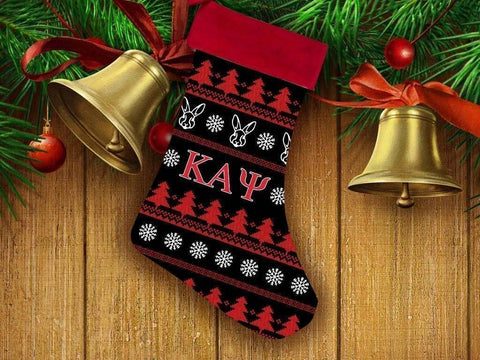 Image of Kappa Alpha Psi Christmas Stocking - Unique Greek Store