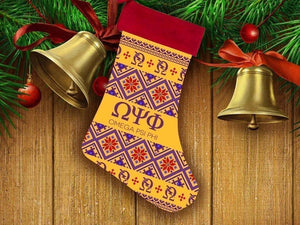 Omega Psi Phi Christmas Stocking - Unique Greek Store
