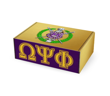 Omega Psi Phi Que Box - 3 Months - Unique Greek Store
