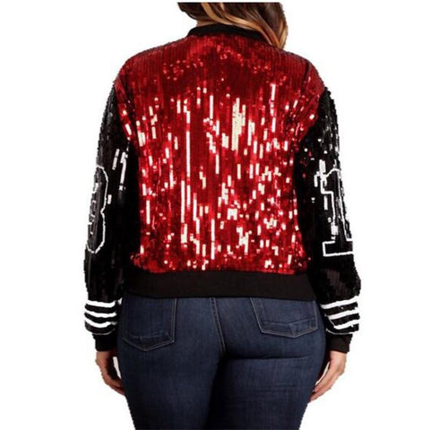 Delta Sigma Theta Red and Black 13 Sequin Jacket