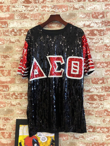 Image of Delta Sigma Theta Sorority Sequin T-Shirts