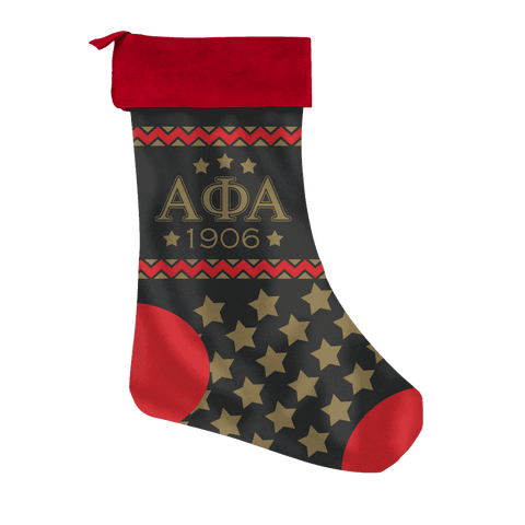 Image of Alpha Phi Alpha Christmas Stocking - Unique Greek Store