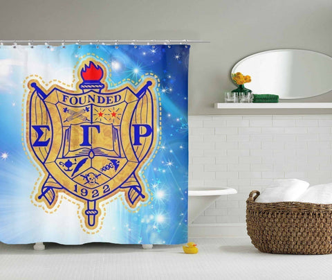 Image of Sigma Gamma Rho Shower Curtain - Unique Greek Store