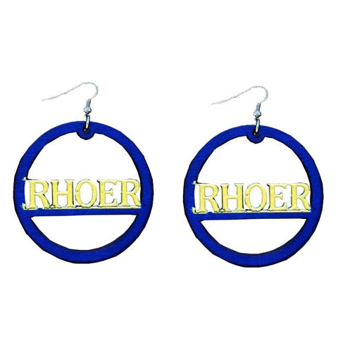 Sigma Gamma Rho African Wood Earrings