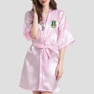 Alpha Kappa Alpha Silk Bathrobe