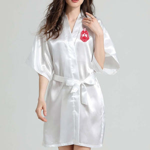 Delta Sigma Theta Lace Satin Bathrobe