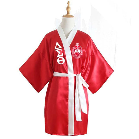 Delta Sigma Theta Bathrobe Lace Satin