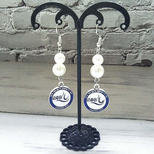 Zeta Phi Beta Pearl Dangle Jewelry