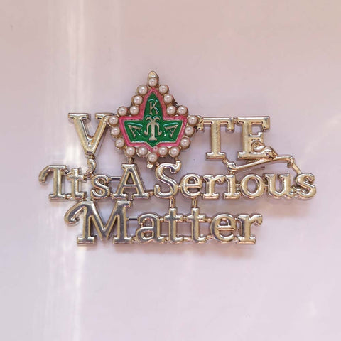 Image of Order of the Eastern Star Its a Serious Matter Lapel Pin