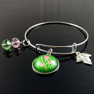 Alpha Kappa Alpha 1908 Adjustable Bangle - Unique Greek Store