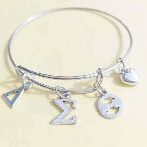 Delta Sigma Theta Love Bangle Jewelry - Unique Greek Store
