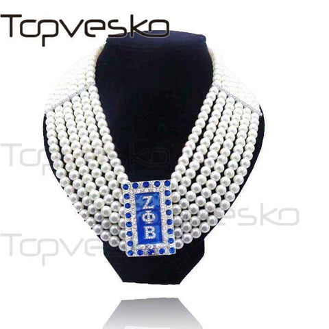 Zeta Phi Beta Multilayer Pearls Jewelry Set - Unique Greek Store