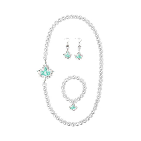 Image of Alpha Kappa Alpha Pink and Green Set Jewelry