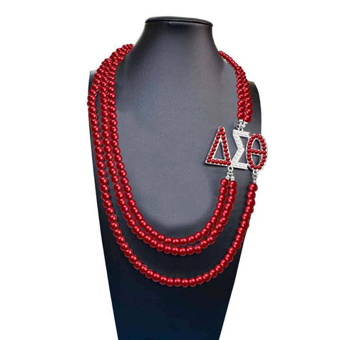 Image of Delta Sigma Theta African Pearl Necklace - Unique Greek Store