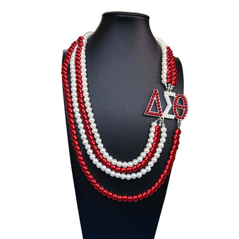 Delta Sigma Theta African Pearl Necklace - Unique Greek Store