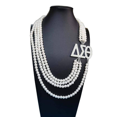Delta Sigma Theta Multilayer Pearl Necklace - Unique Greek Store