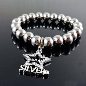 Alpha Kappa Alpha Stainless Steel Beads Bracelet - Unique Greek Store