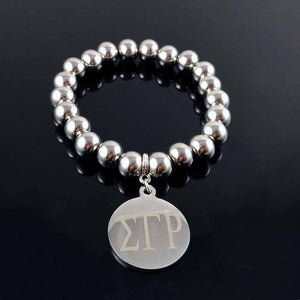 Sigma Gamma Rho Stainless Steel Beads Bracelet - Unique Greek Store