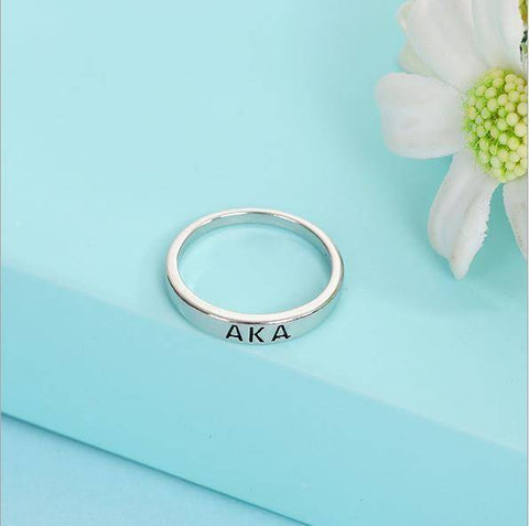 Alpha Kappa Alpha Irregular Design Ring - Unique Greek Store