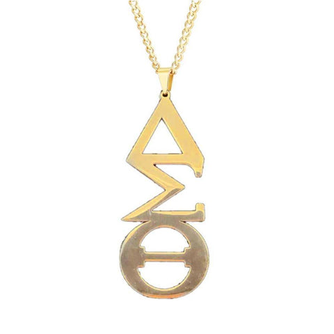Delta Sigma Theta Stainless Steel Necklace - Unique Greek Store