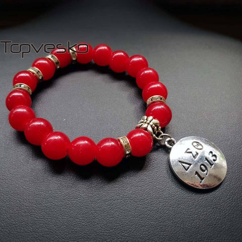 Image of Delta Sigma Theta Red Beads Bracelet - Unique Greek Store