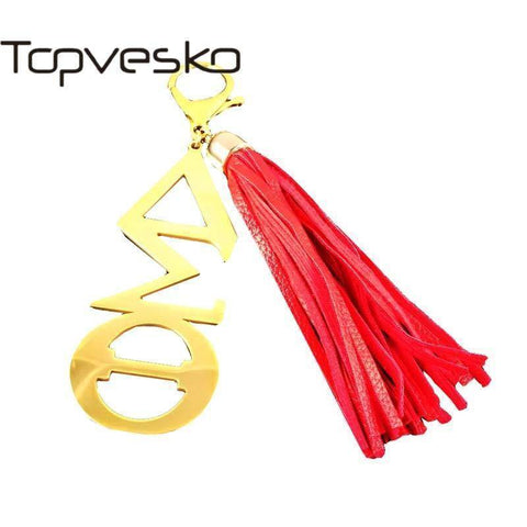 Delta Sigma Theta Red Tassel Keychain - Unique Greek Store