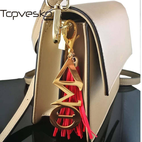 Image of Delta Sigma Theta Red Tassel Keychain - Unique Greek Store