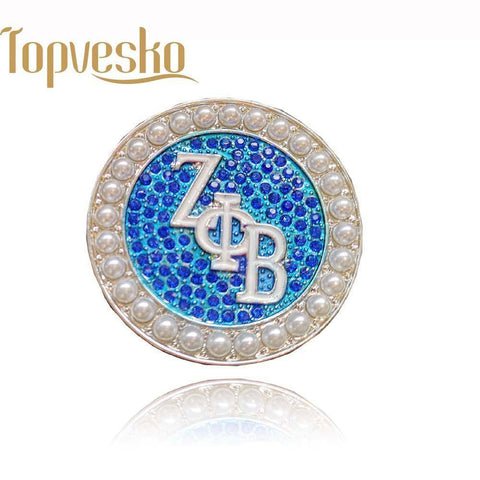 Zeta Phi Beta Sorority Pearl Lapel Pin