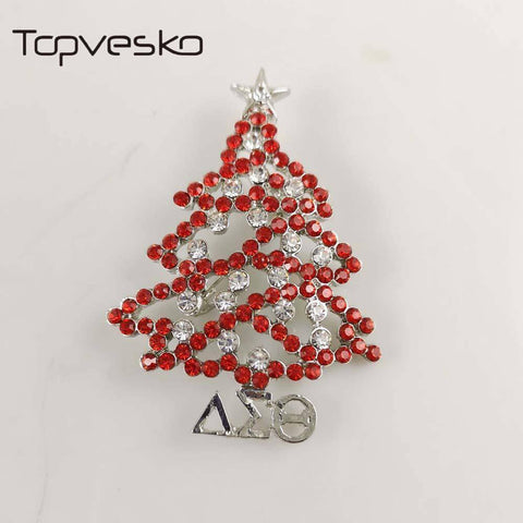 Delta Sigma Theta Christmas Tree Lapel Pin - Unique Greek Store