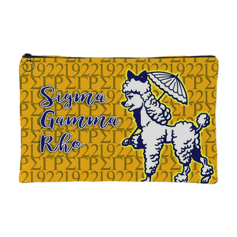 Image of Sigma Gamma Rho Accessory Pouch - Unique Greek Store