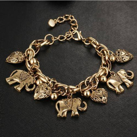 Delta Sigma Theta Vintage Elephant Gold Bracelet - Unique Greek Store