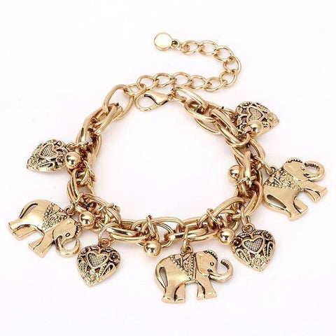 Image of Delta Sigma Theta Vintage Elephant Gold Bracelet - Unique Greek Store