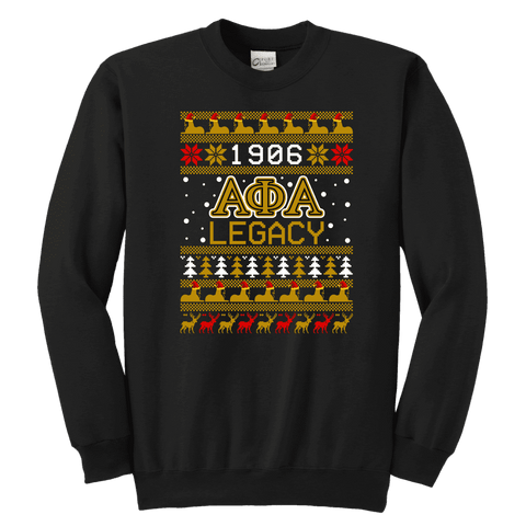 Alpha Phi Alpha Youth Ugly Sweatshirt - Unique Greek Store