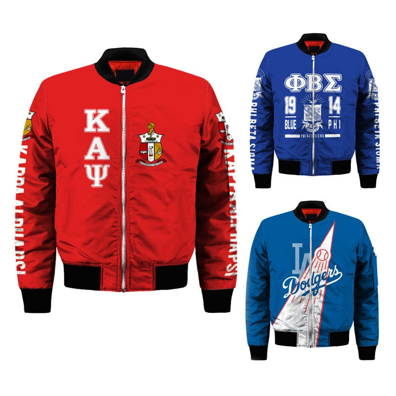 Kappa Alpha Psi Customized Bomber Jacket