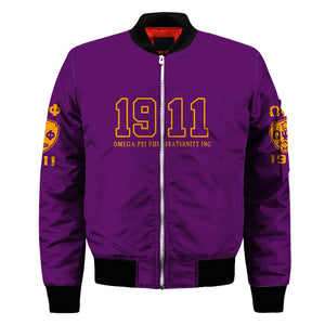 Omega Psi Phi Customized Bomber Jacket
