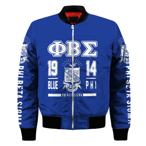 Image of Phi Beta Sigma Customized Bomber Jacket
