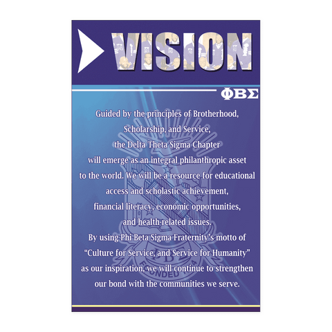 Image of Phi Beta Sigma Vision Wall Art - Unique Greek Store