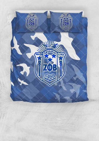 Image of Zeta Phi Beta Bedding Set - Unique Greek Store