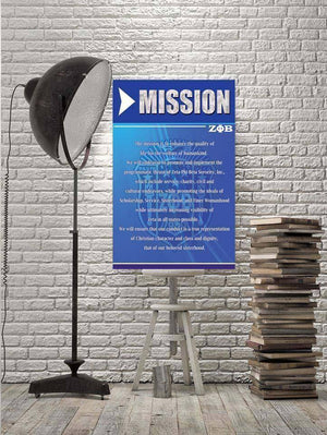 Zeta Phi Beta Mission Wall Art - Unique Greek Store