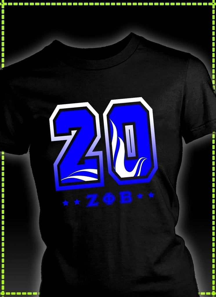 Zeta Phi Beta Founding Year District Womens Shirt - Unique Greek Store